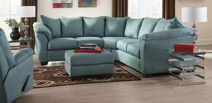 Ashley darcy microfiber sofa for 750 sofa chaise