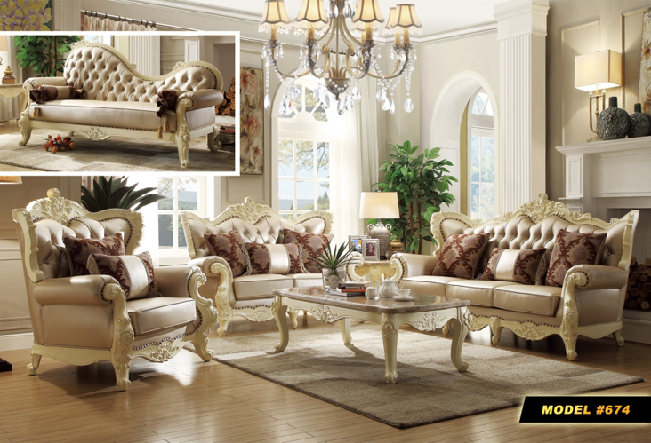 Meridian Furniture Madrid Barcelona Living Room Collection