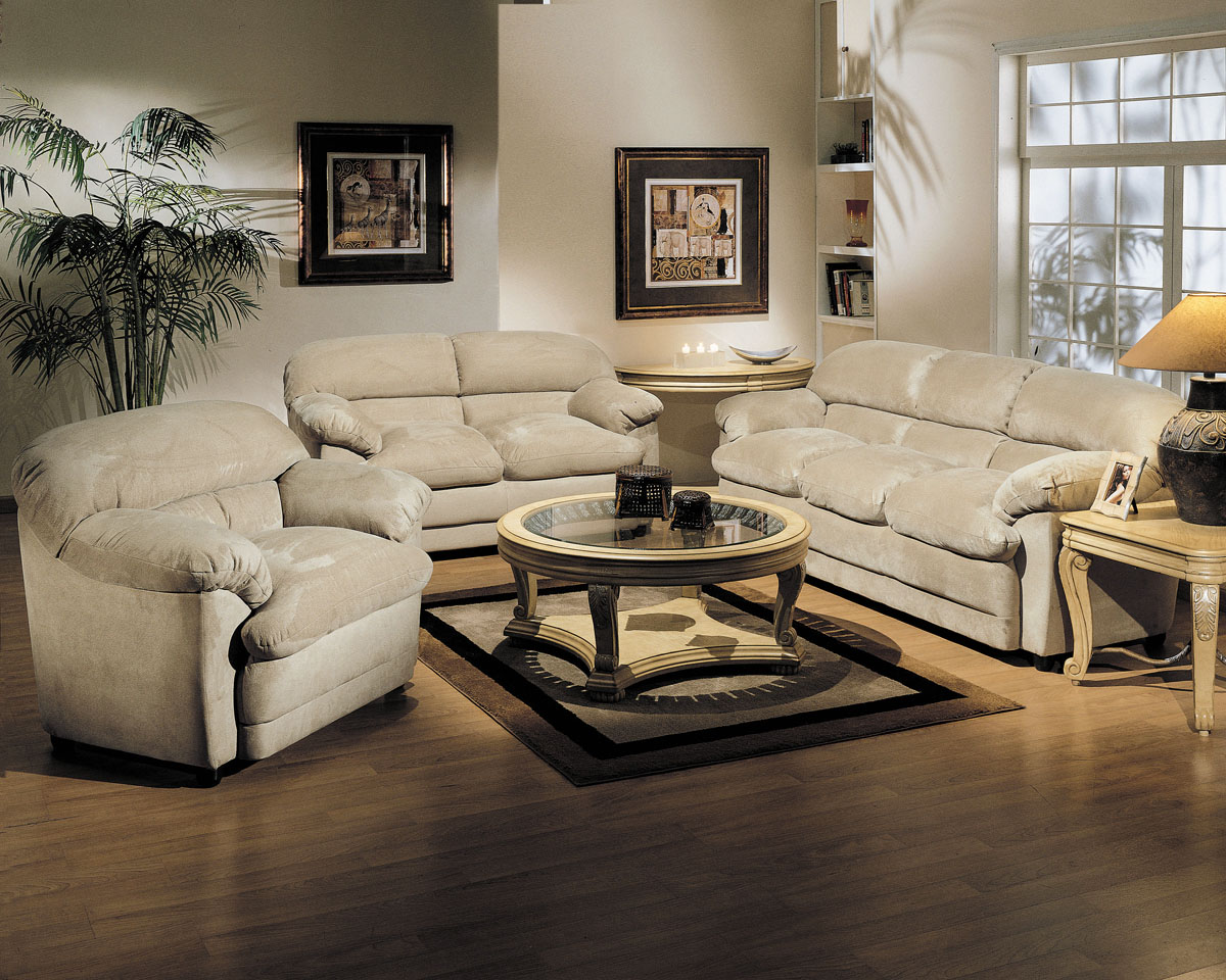 acme bella easy rider living room set in beige