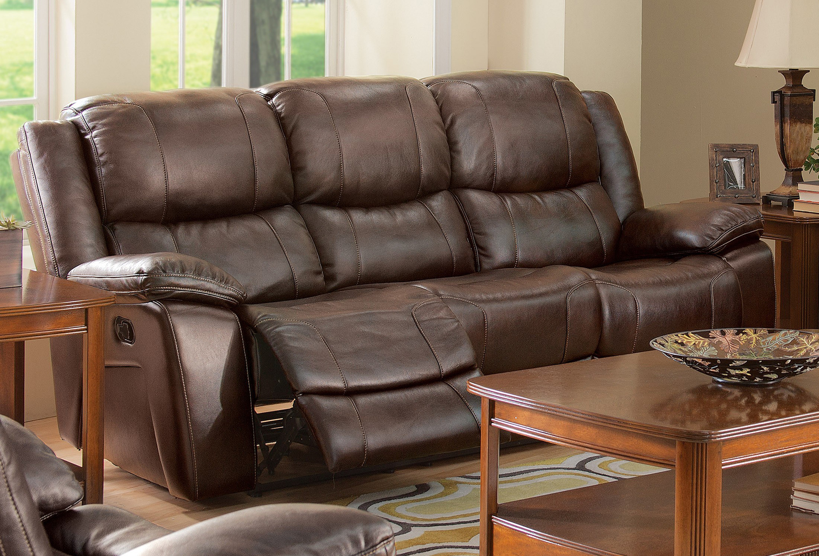 New Classic Furniture Kenwood Power Sofa In Brown 22 245