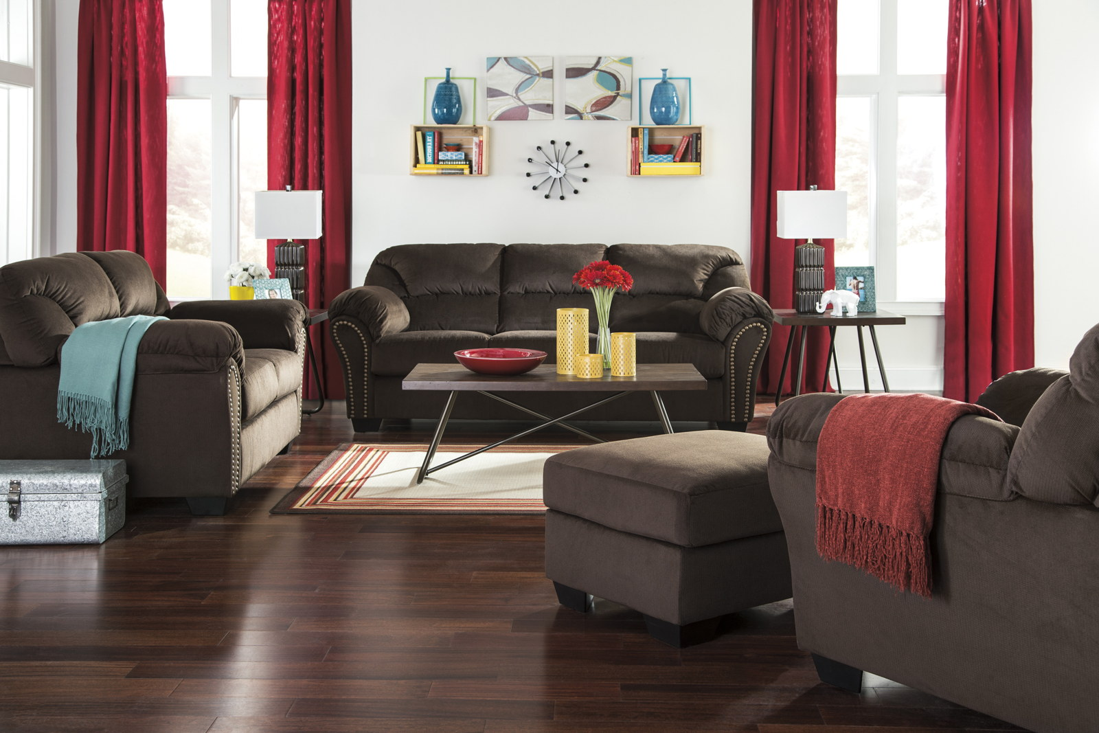 3 piece kinlock living room set in chocolate for 3 piece living room set cheap