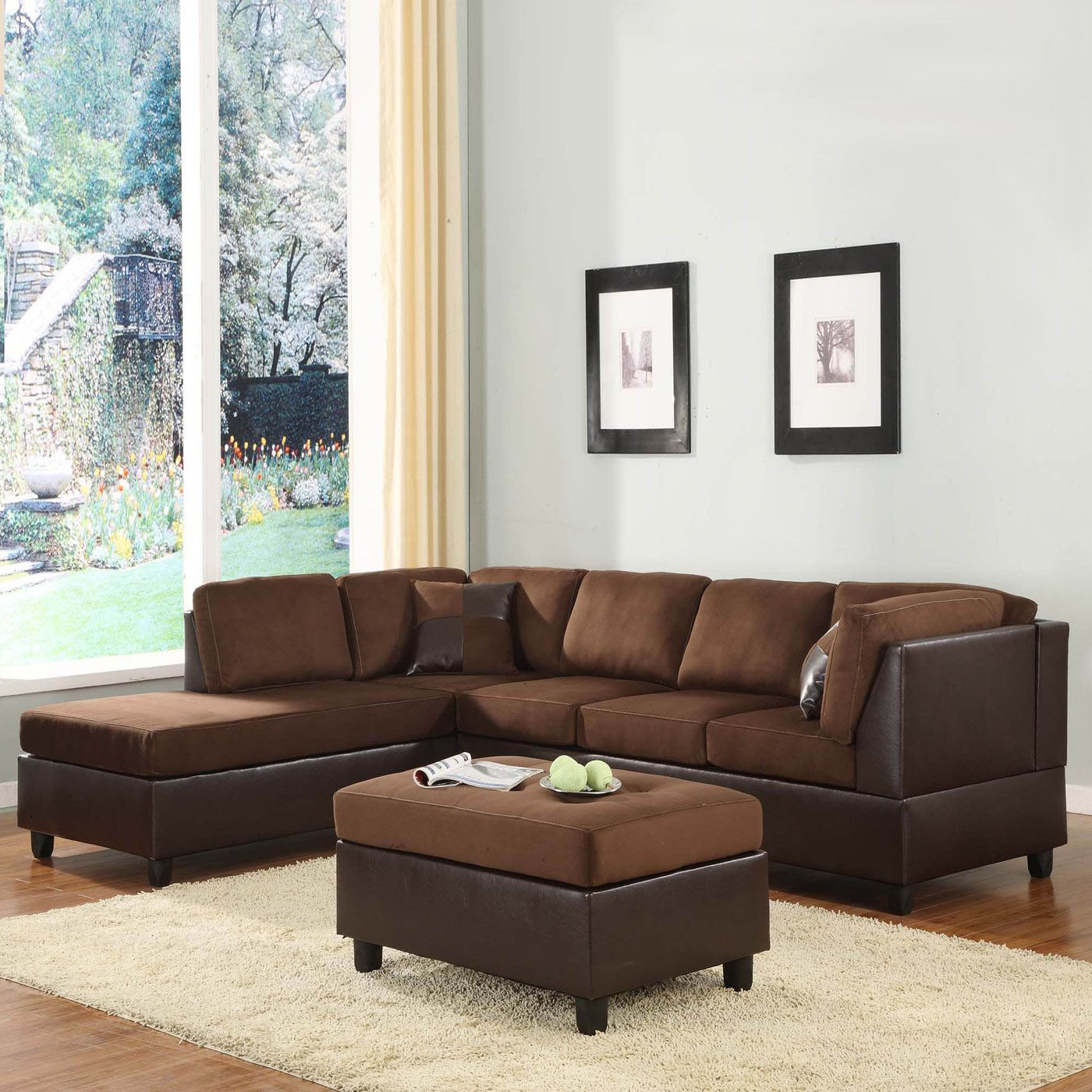 Homelegance comfort living 2 piece sectional living room for 3 piece living room set cheap