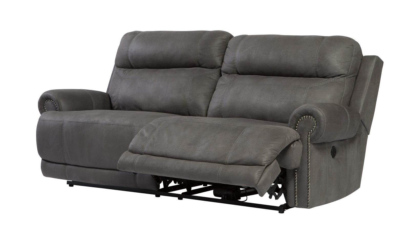 Austere Two Seat Reclining Power Sofa In Gray 3840147