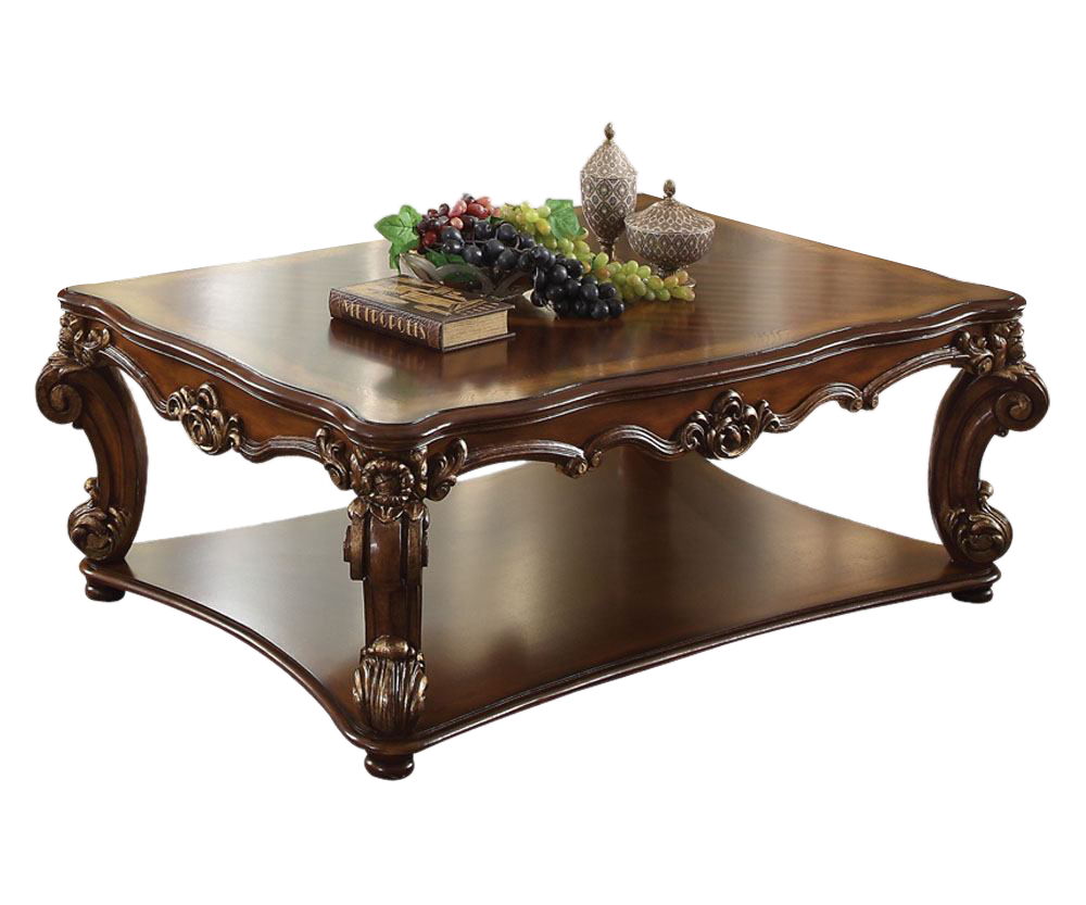 Valencia Carved Wood Traditional Bedroom Furniture Set 209000: Acme Vendome Retangular Coffee Table In Cherry 82000