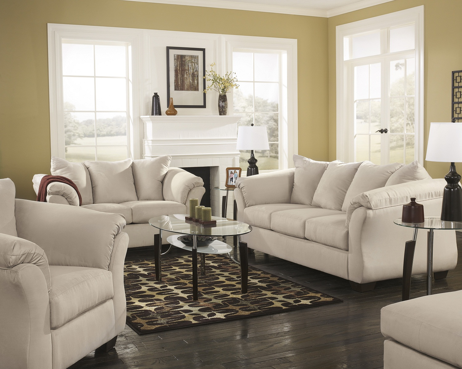 4 piece darcy living room set in stone all living room for 4 piece living room set