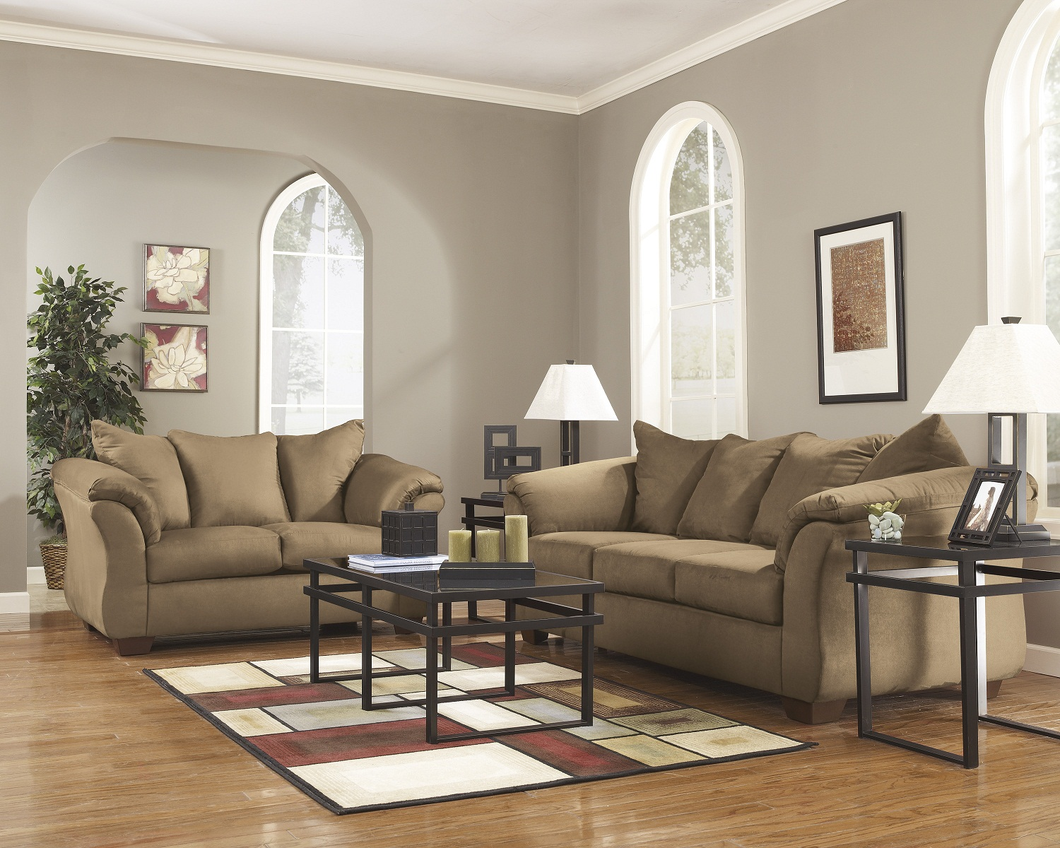 4 piece darcy living room set in mocha for 4 piece living room set