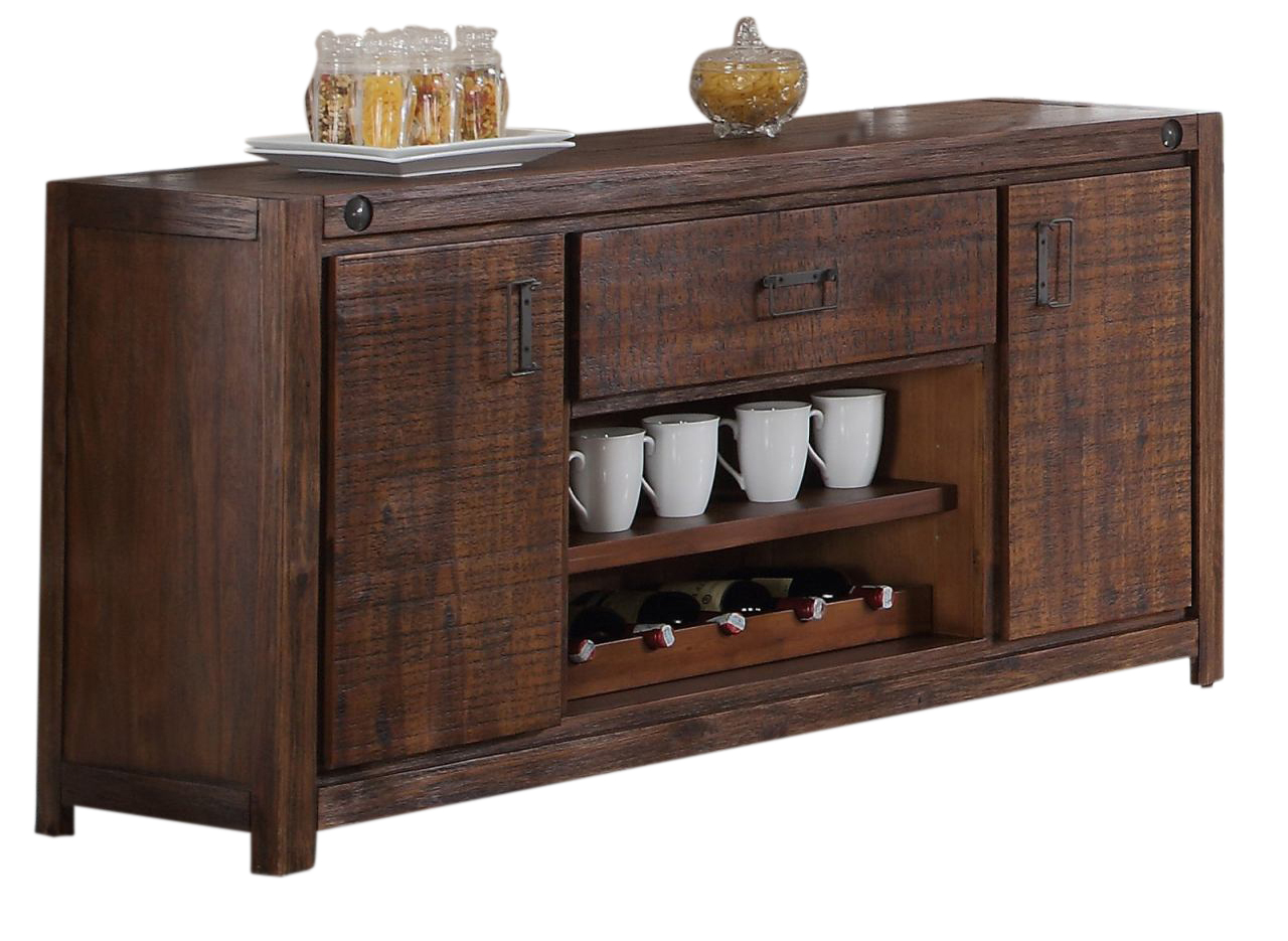 New Classic Furniture Fairway Console In Distressed Walnut