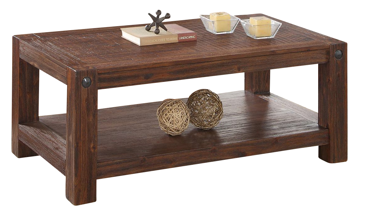 New Classic Furniture Fairway Cocktail Table In Distressed