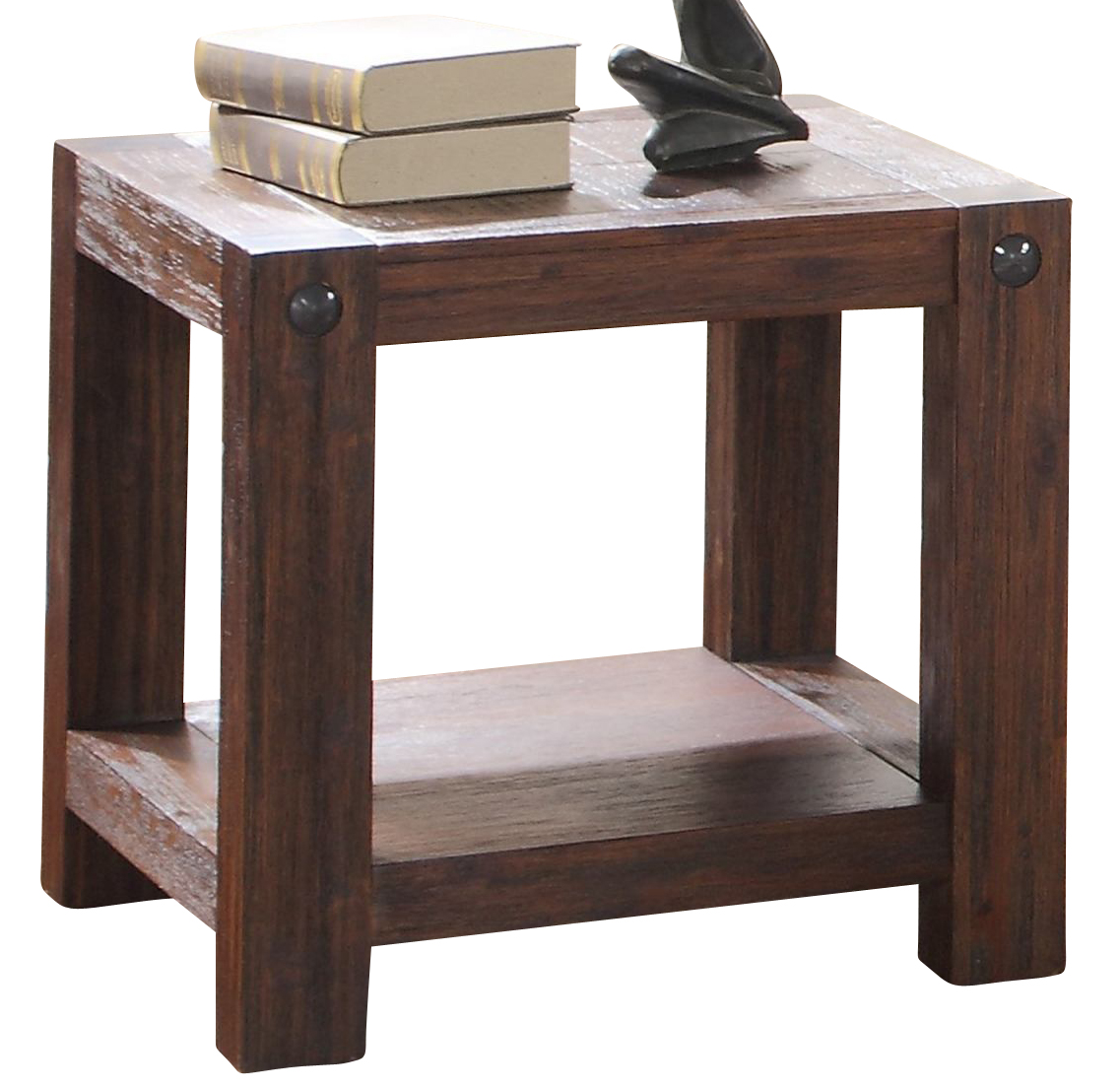 New Classic Furniture Fairway End Table In Distressed