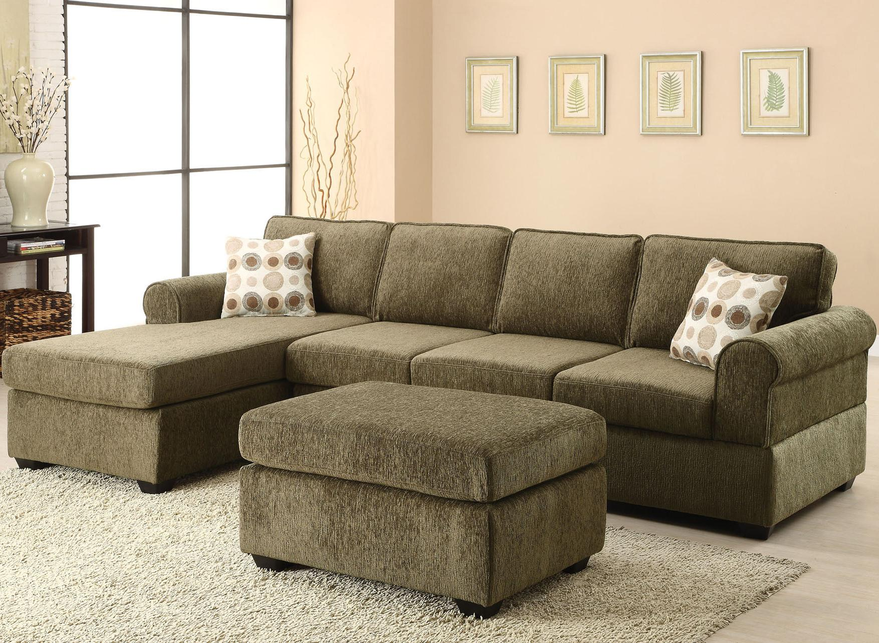 Acme billan sectional living room set in green for 3 piece living room set cheap