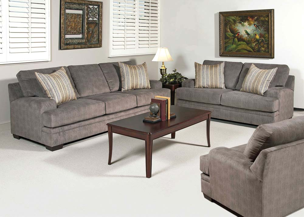 Acme claude 2 piece living room set in gray for 3 piece living room set cheap