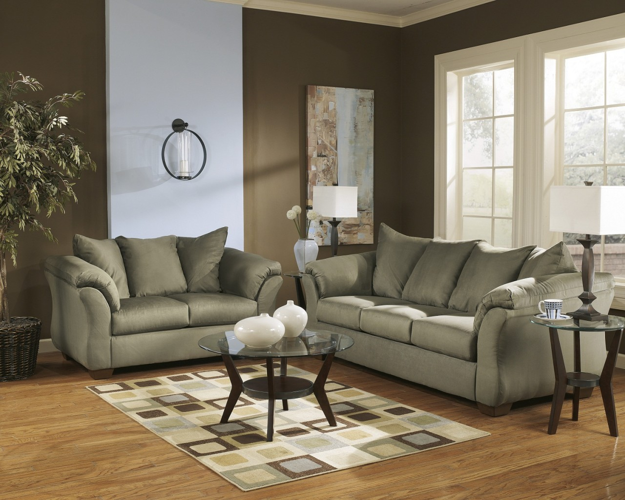 4 piece darcy living room set in sage for 4 piece living room set
