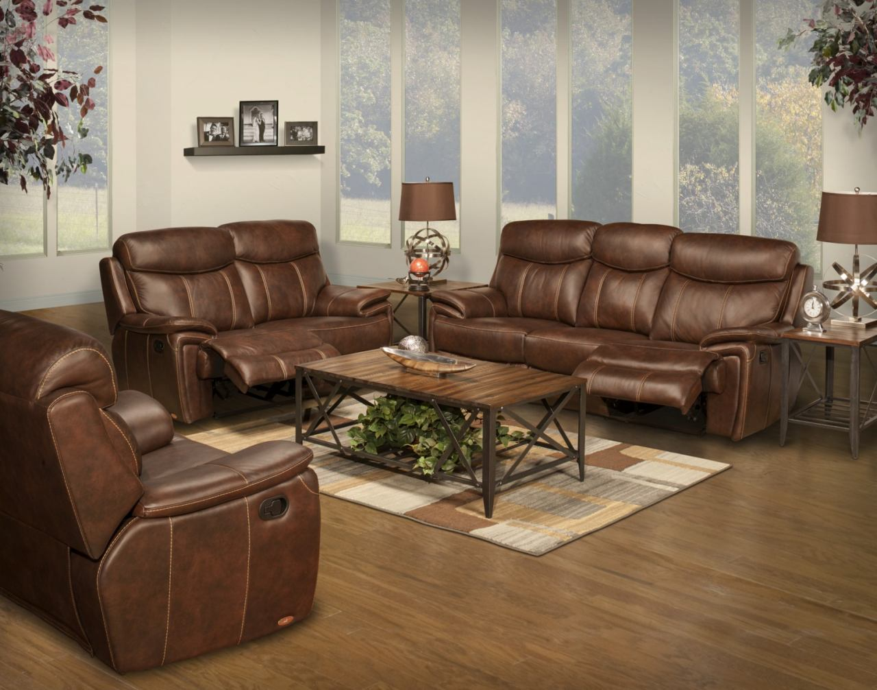 New classic aria 2 piece living room set in matte brown for 3 piece living room set cheap