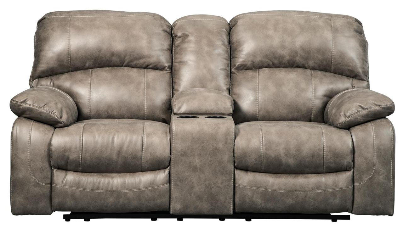 reclining coffee the follett with rocker double loveseat console recliner sofa