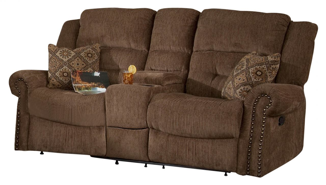 Classic Furniture Jasper Power Dual Recliner Console Loveseat In  ~ Sofa Recliner With Console