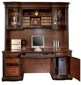 Coaster Gorman Home Office Credenza And Hutch In Two Tone Finish  800500;800501