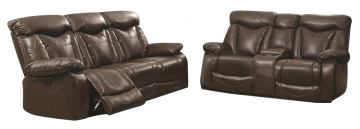 Coaster Zimmerman 2-Piece Power Reclining Living Room Set in Dark Brown