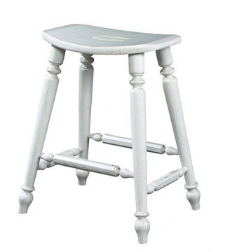 Fine Furniture Summer Home Saddle Counter Stool in Shell 1051-928-S