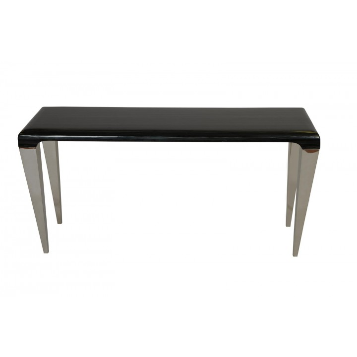 Armen Living Chow Marble Console Table In Black Lcchcnto All Tables Tables
