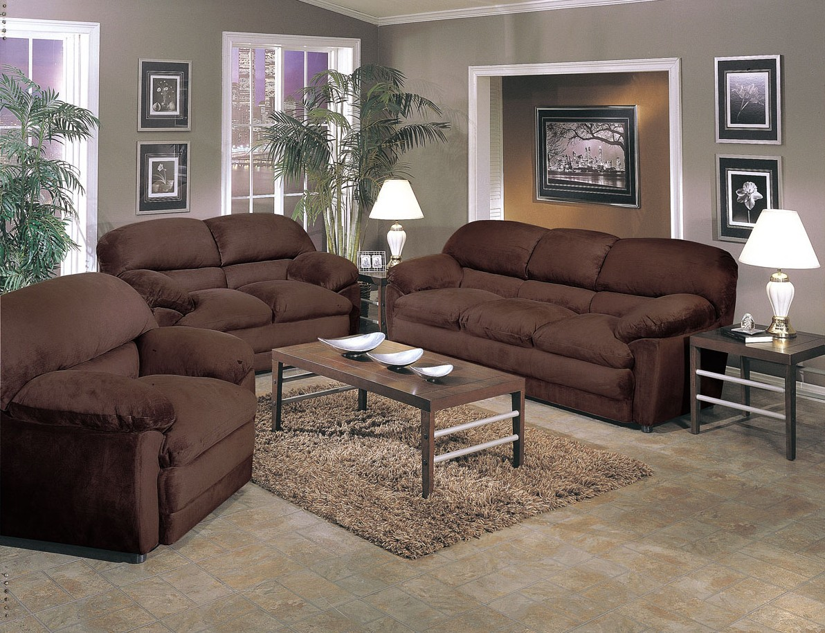 Chocolate Brown Living Room Finest Homelegance Lamont Modular Sectional Sofa Set B Chocolate
