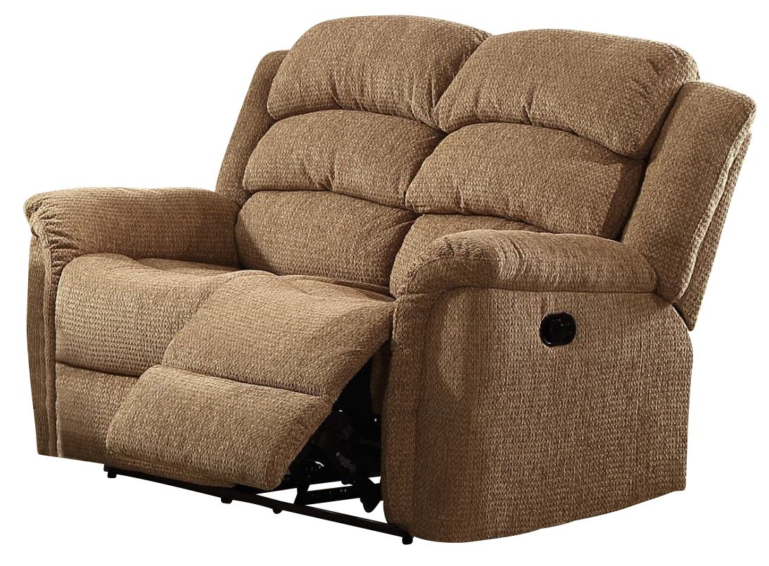 New classic furniture ross dual recliner loveseat in taupe for Affordable furniture 290