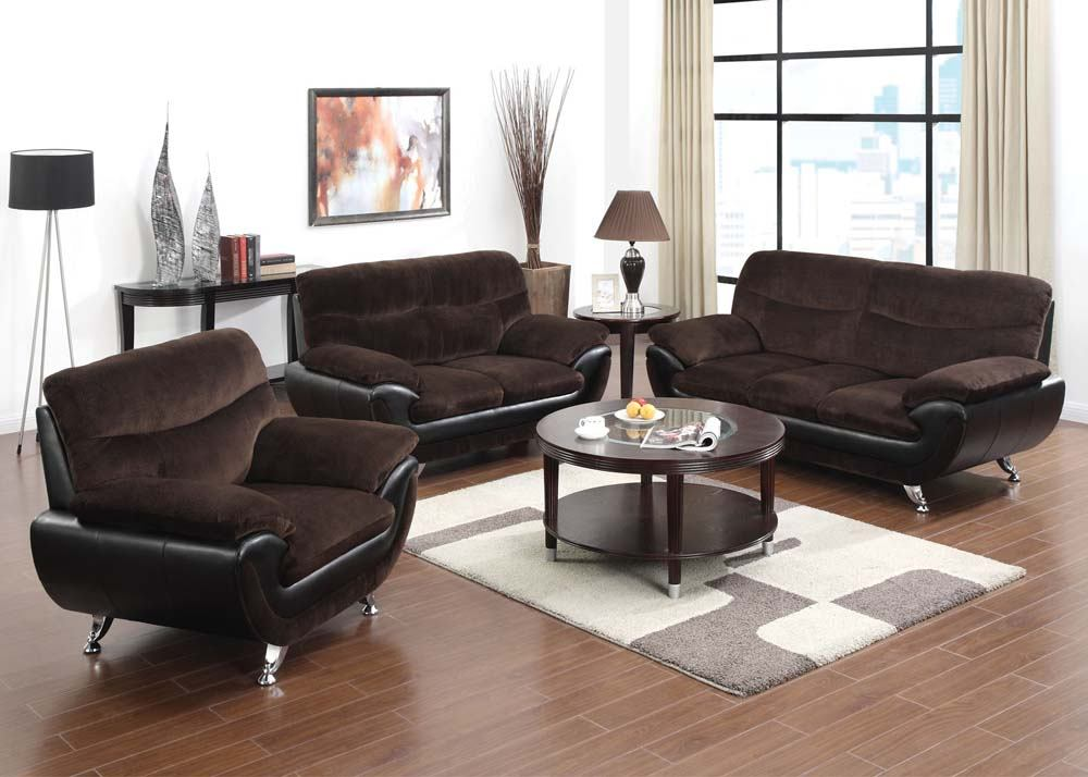Acme Wilona 2 Piece Living Room Set In Chocolate