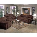 Acme Bella Easy Rider Living Room Set in Chocolate
