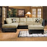 Acme Monica Beige Easy Rider/Espresso Bycast Sectional Set