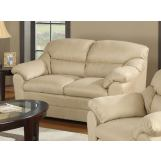 Acme Connell Microfiber Loveseat in Beige 15171