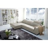 J&M Furniture1727 Premium Leather Sectional LAF in Beige 1785831-LHFC-BE