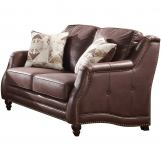 Acme Furniture Nickolas Loveseat in Chocolate 52066