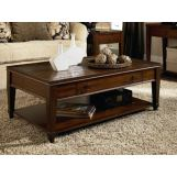 Hammary Sunset Valley Single-Drawer Rectangular Cocktail Table in Brown 197-910
