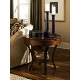 Hammary Sunset Valley Round End Table in Brown 197-917