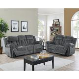 New Classic Furniture 2pcs Laura Living Room Set in Pewter PROMO