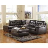 Alliston DuraBlend® LAF Sectional Set in Chocolate