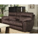 Catnapper Sedona Power Headrest Lay Flat Recl Console Loveseat w/Storage and Cupholders in Mocha 62229 CODE:UNIV20 for 20% Off