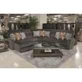 Catnapper Triton 5pc LSF Chaise Sectional in Steel