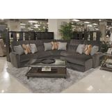 Catnapper Triton 5pc Power RSF Chaise Sectional in Steel