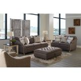 Jackson Furniture Essex 2pc Living Room Set in Charcoal/Moonlight