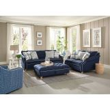 Jackson Furniture Essex 2pc Living Room Set in Midnight/Wave