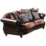 Acme Del Rey Velvet Loveseat in Chocolate with PU Accents 50121