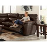 Catnapper Milan Power Lay Flat Reclining Console Loveseat in Chocolate 64349 CODE:UNIV20 for 20% Off