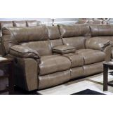 Catnapper Milan Lay Flat Reclining Console Loveseat in Smoke 4349 CODE:UNIV20 for 20% Off