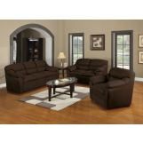 Acme Connell Microfiber Living Room Set in Chocolate