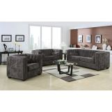 Coaster Alexis Micro Velvet Living Room Set in Charcoal