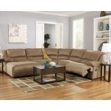 Hogan Mocha 5-Piece Left Chaise Reclining Sectional
