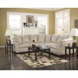 3-Piece Darcy Loveseat Sectional Set in Stone