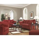 4-Piece Darcy Living Room Set in Salsa