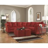 3-Piece Darcy Loveseat Sectional Set in Salsa