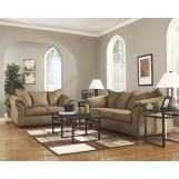 4-Piece Darcy Living Room Set in Mocha